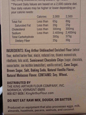 Chocolate chip cookie mix - Ingredients - en