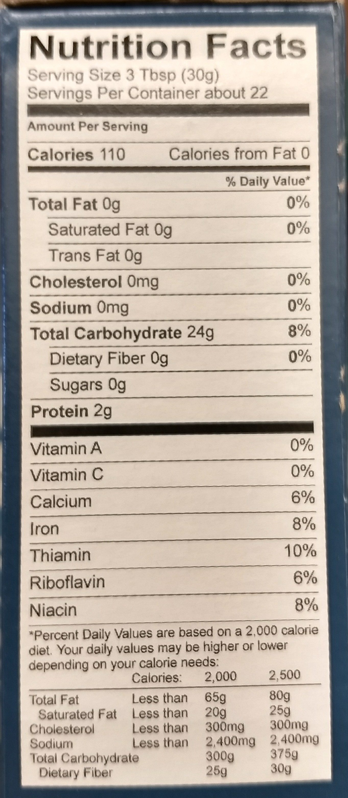 Gluten free all-purpose flour - Nutrition facts - en