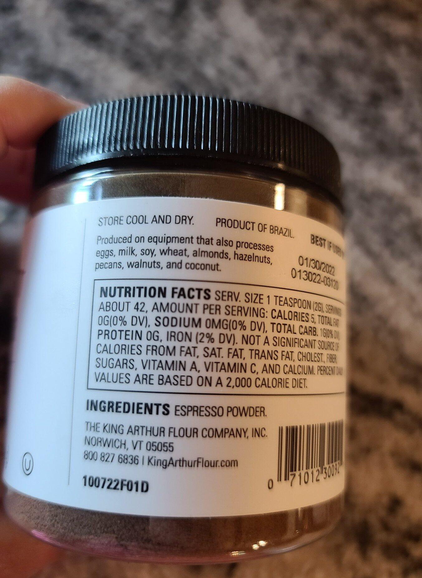 espresso powder - Ingredients - en