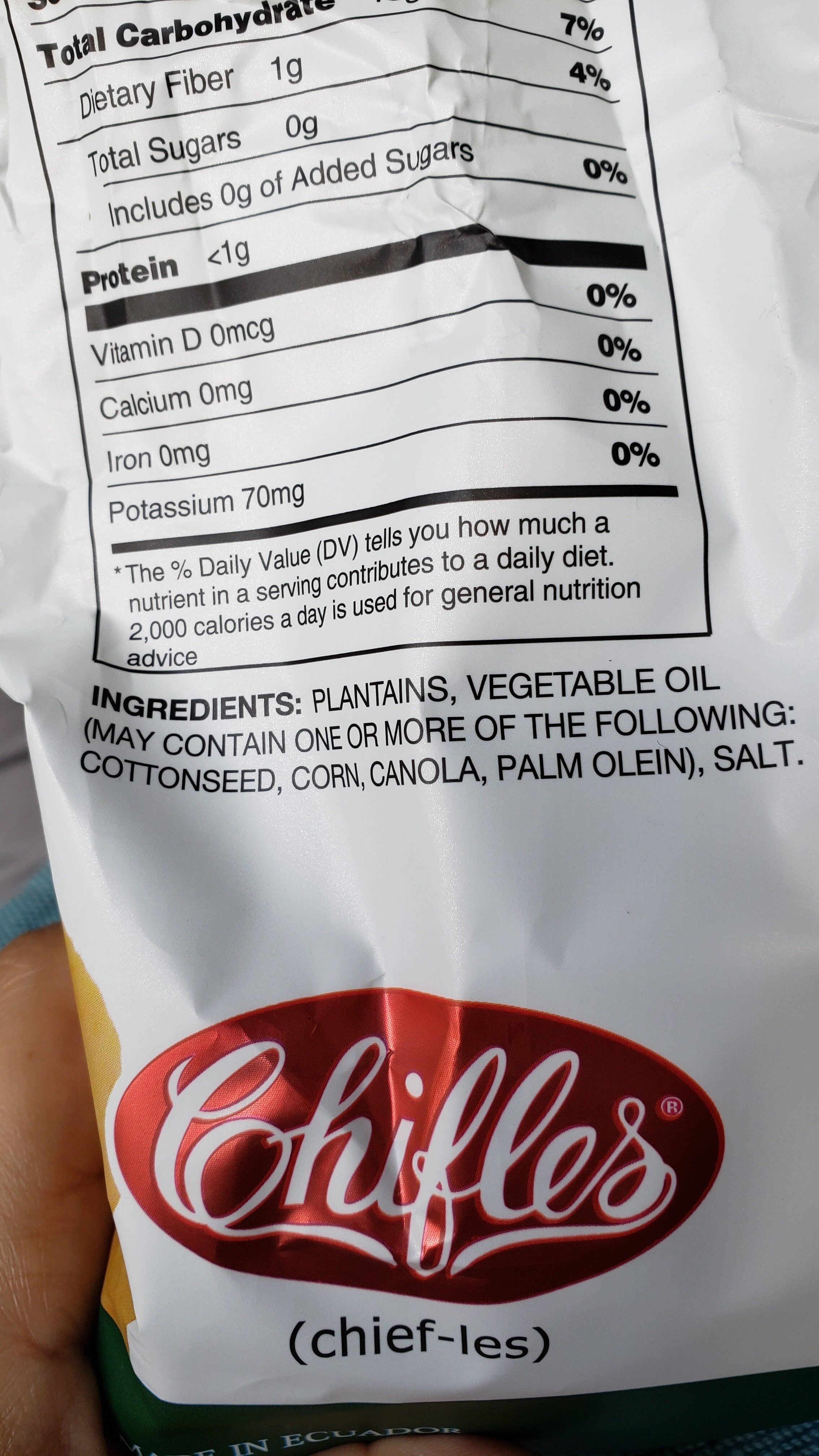 Chifles - Ingredients - en