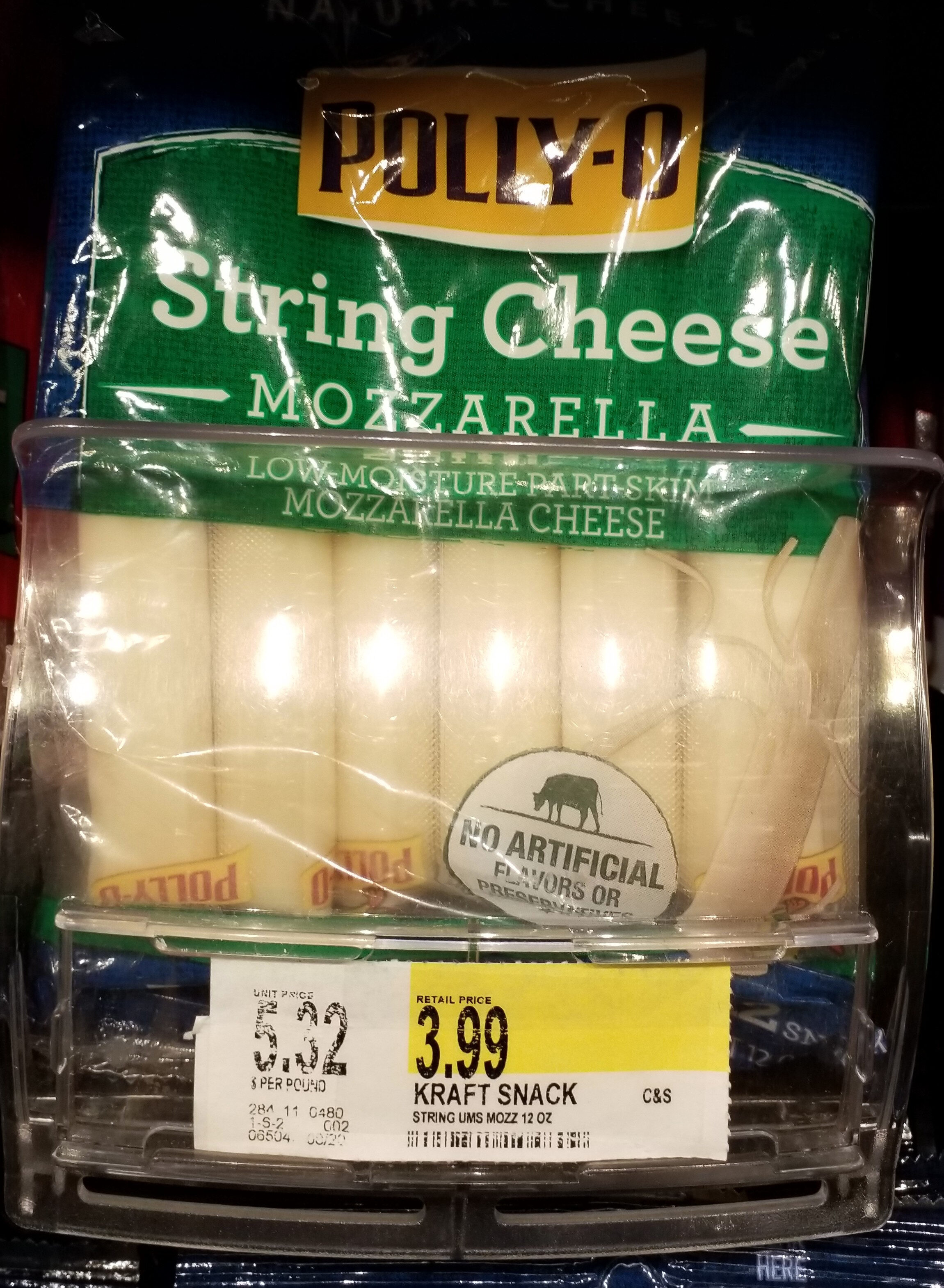 Mozarella String Cheese - Product