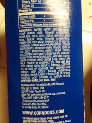 Corn dogs - Ingredients - en