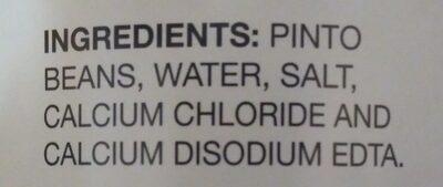 Pinto Beans - Low Sodium - Ingredients - en