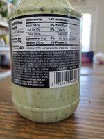 Creamy cilantro lime sauce - Ingredients - en