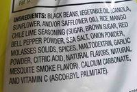 harvest snaps black bean - Ingredients - en