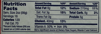RAPA Scrapple Our Original - Nutrition facts - en