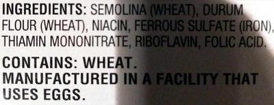 Ziti - Ingredients
