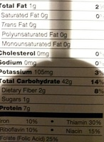 Ziti - Nutrition facts