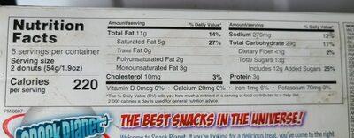 Assorted Donuts - Informations nutritionnelles - en