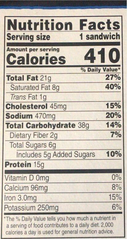 Cheeseburger - Valori nutrizionali - en