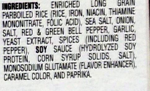 Dirty Rice Mix - Ingredients