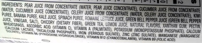 Bolthouse farms, fruit & vegetable juice, daily greens, daily greens - Ingredients - en