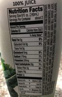 Bolthouse farms, fruit & vegetable juice, daily greens, daily greens - Ingrédients - fr