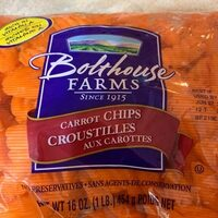 Bolthouse farms, carrot chips - Product - en