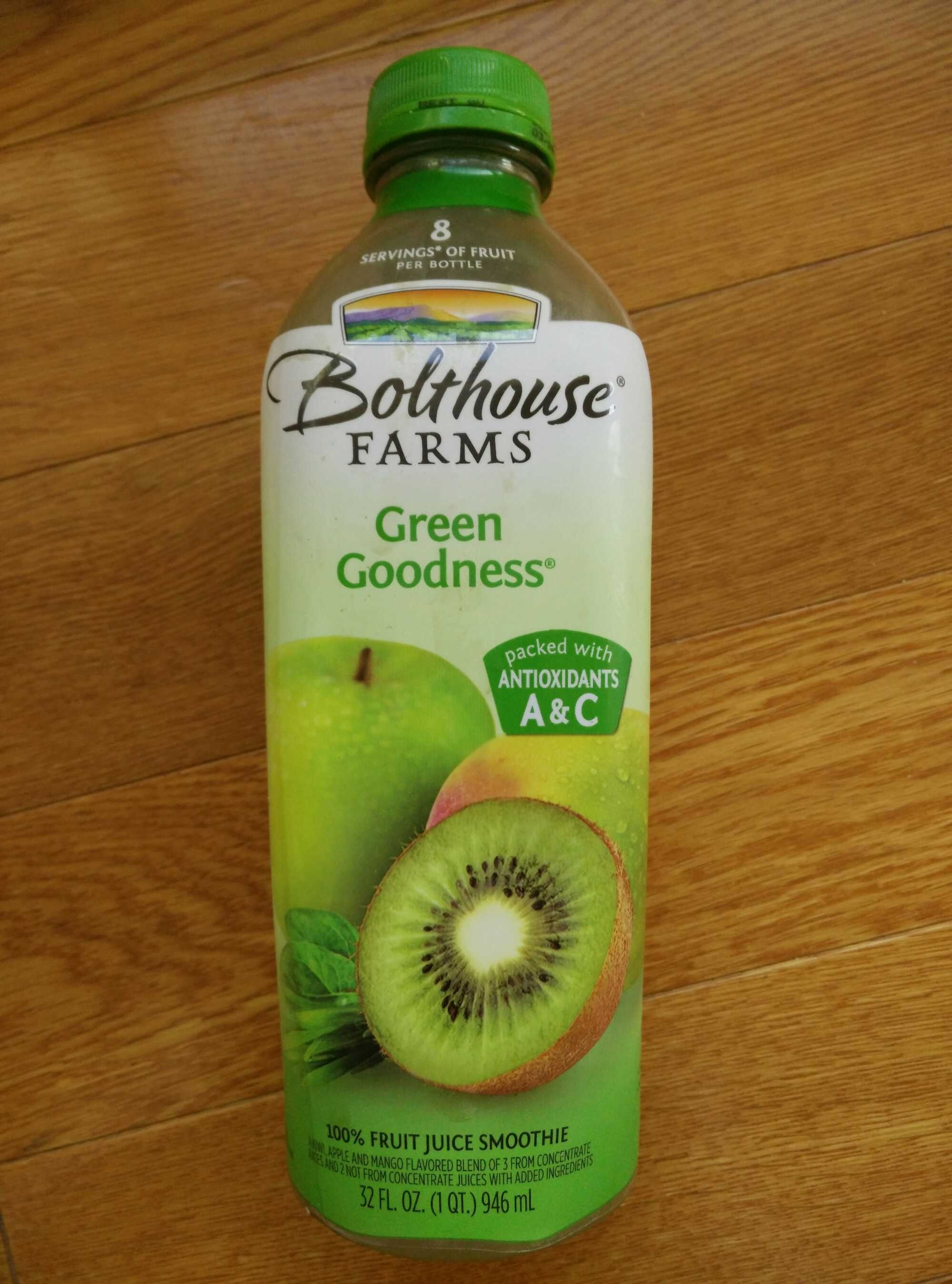 100% fruit juice smoothie, green goodness - Produit - en
