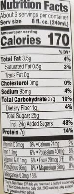 Perfectly protein heart healthy tea & soy beverage - Nutrition facts