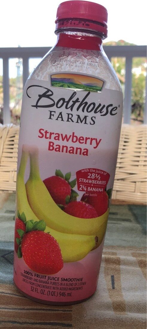 100% fruit juice smoothie, strawberry banana - Product - en