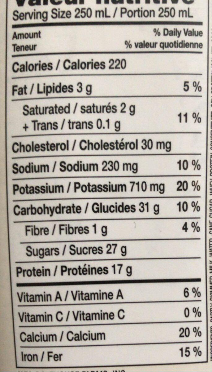 Protein plus shake chocolate - Voedingswaarden - en