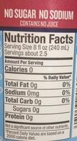 100% natural pomegranate seltzer - Nutrition facts - en