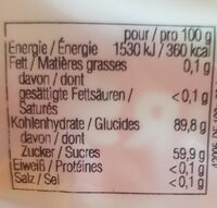 Jelly beans - Nutrition facts - fr