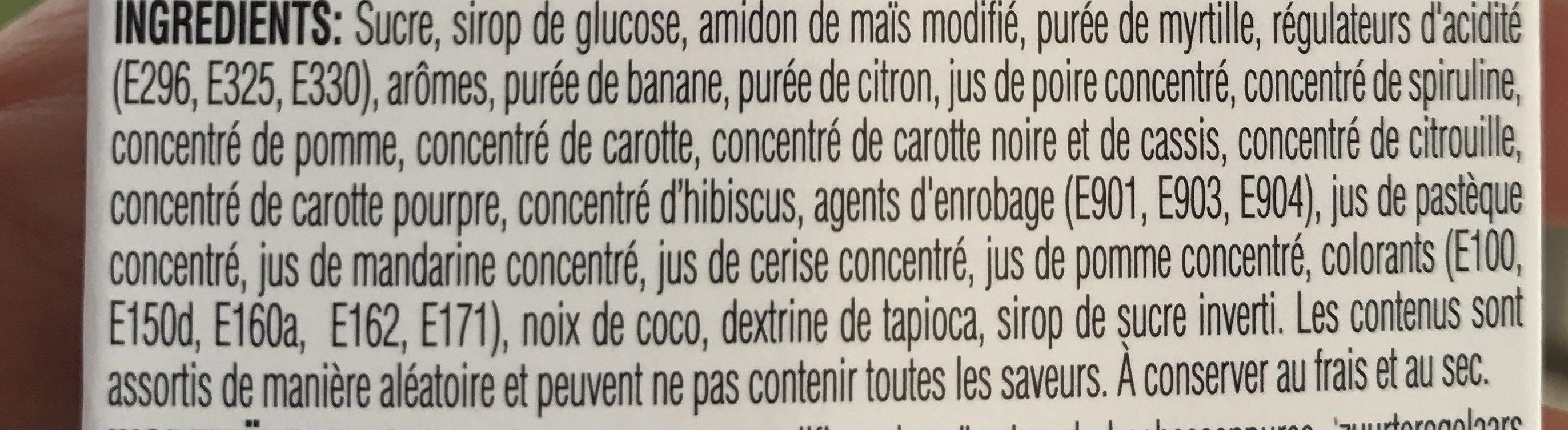 Jelly Belly 10 Sorten Mischung Flip Top Box 50G - Ingrédients - fr