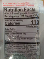 Jelly belly, gourmet jelly beans - Nutrition facts - en