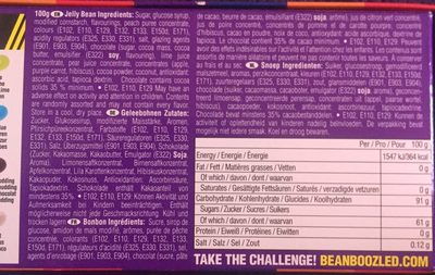 Jelly Belly - Bean Boozled - 100G - Ingredients