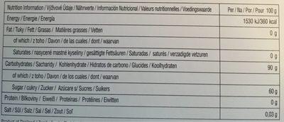 Jelly Belly Adventskalender - Informations nutritionnelles - fr