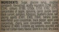 Bertie Bott's Beans Jelly Beans - Ingrédients