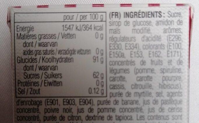 Bertie Bott's Beans Jelly Beans - Ingredients - fr