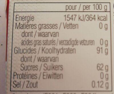 Bertie Bott's Beans Jelly Beans - Nutrition facts - fr