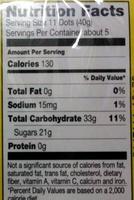 Dots - Informations nutritionnelles