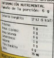Mostaza American Picnic  Beaver Brand - Información nutricional - es