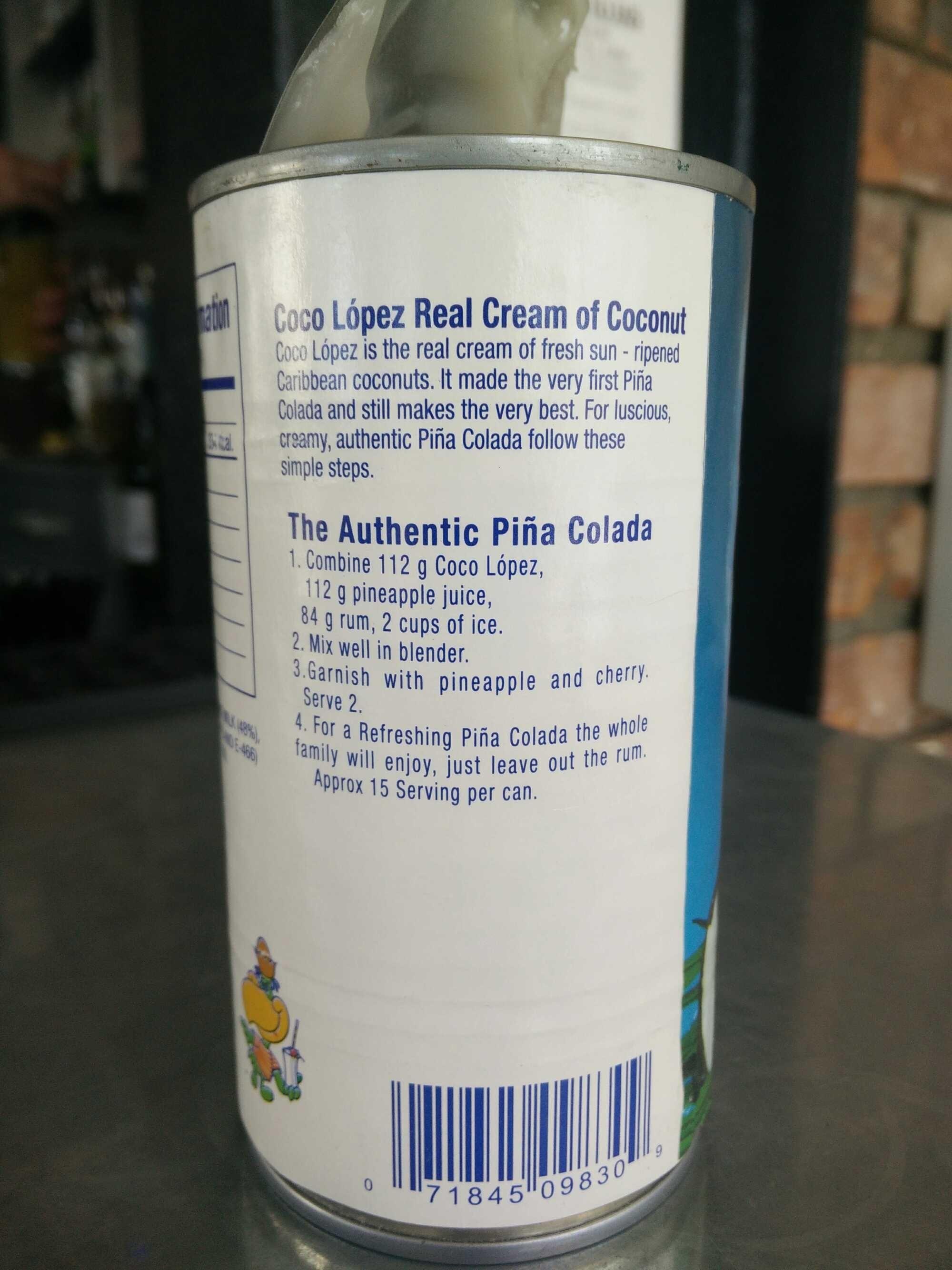 Cream of coconut - Product
