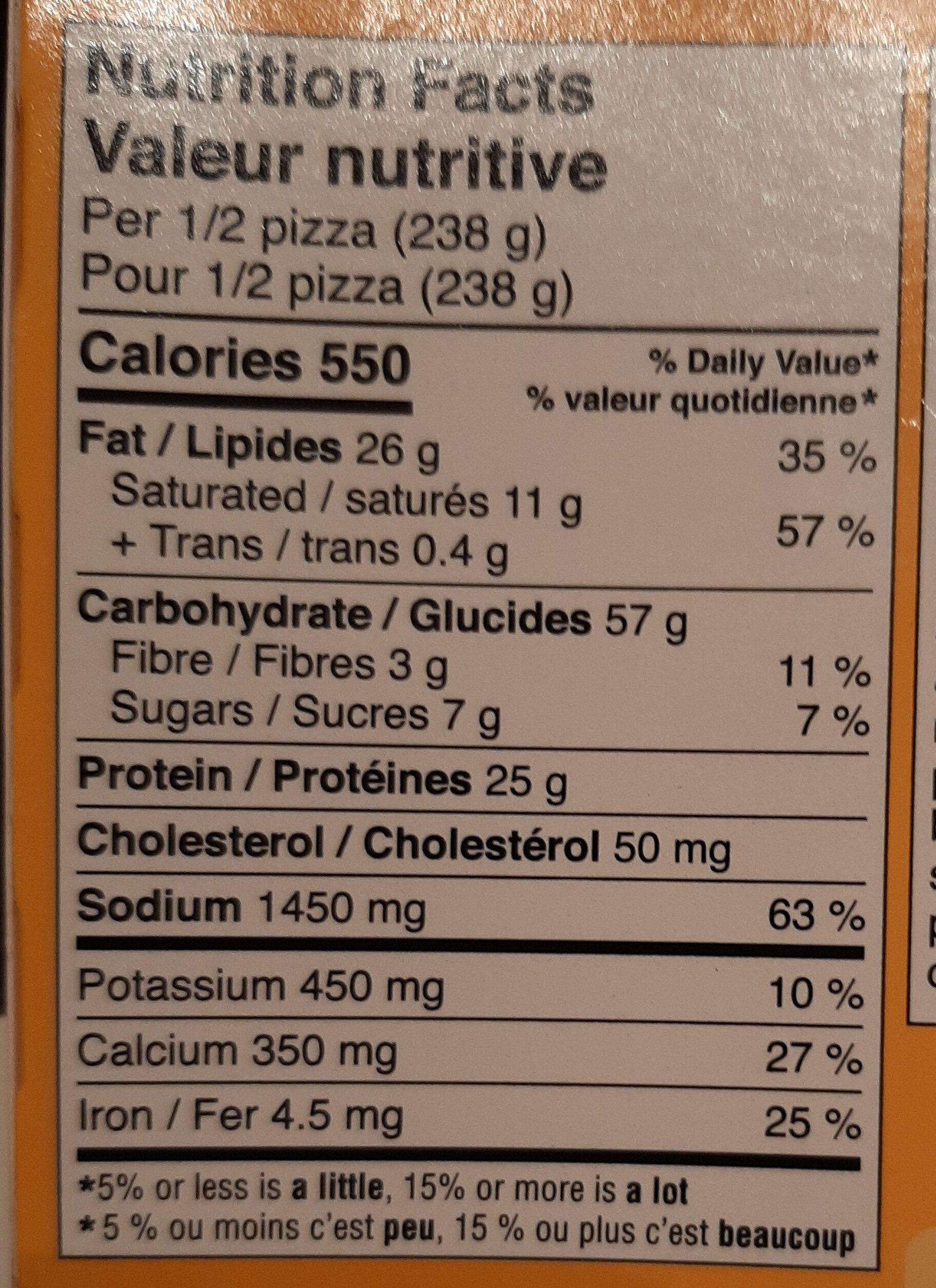 DELISSIO - Informations nutritionnelles - en