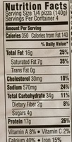 5 Cheese Original Pizza - Nutrition facts
