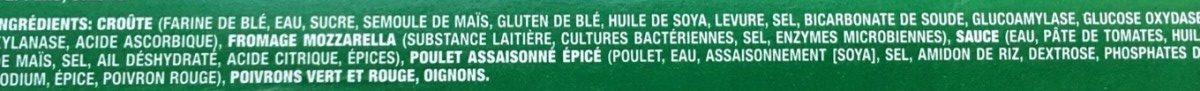 Pizza Lève-au-Four Poulet Épicé Deluxe - Ingrédients