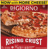 Rising crust three meat frozen pizza - Product