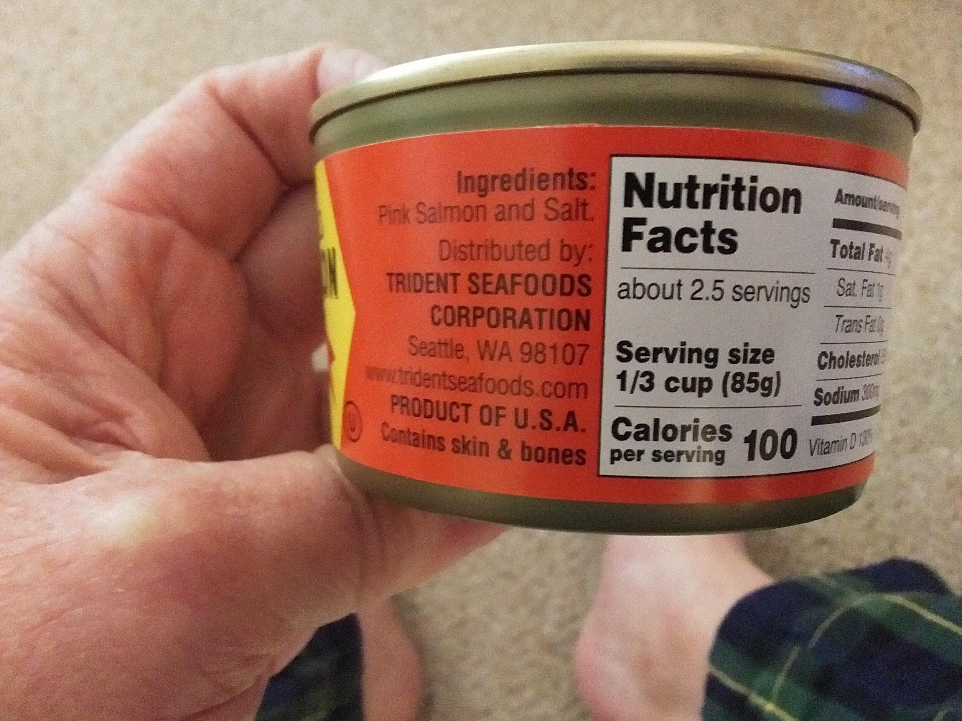 Wild Alaska Pink Salmon - Ingredients - en