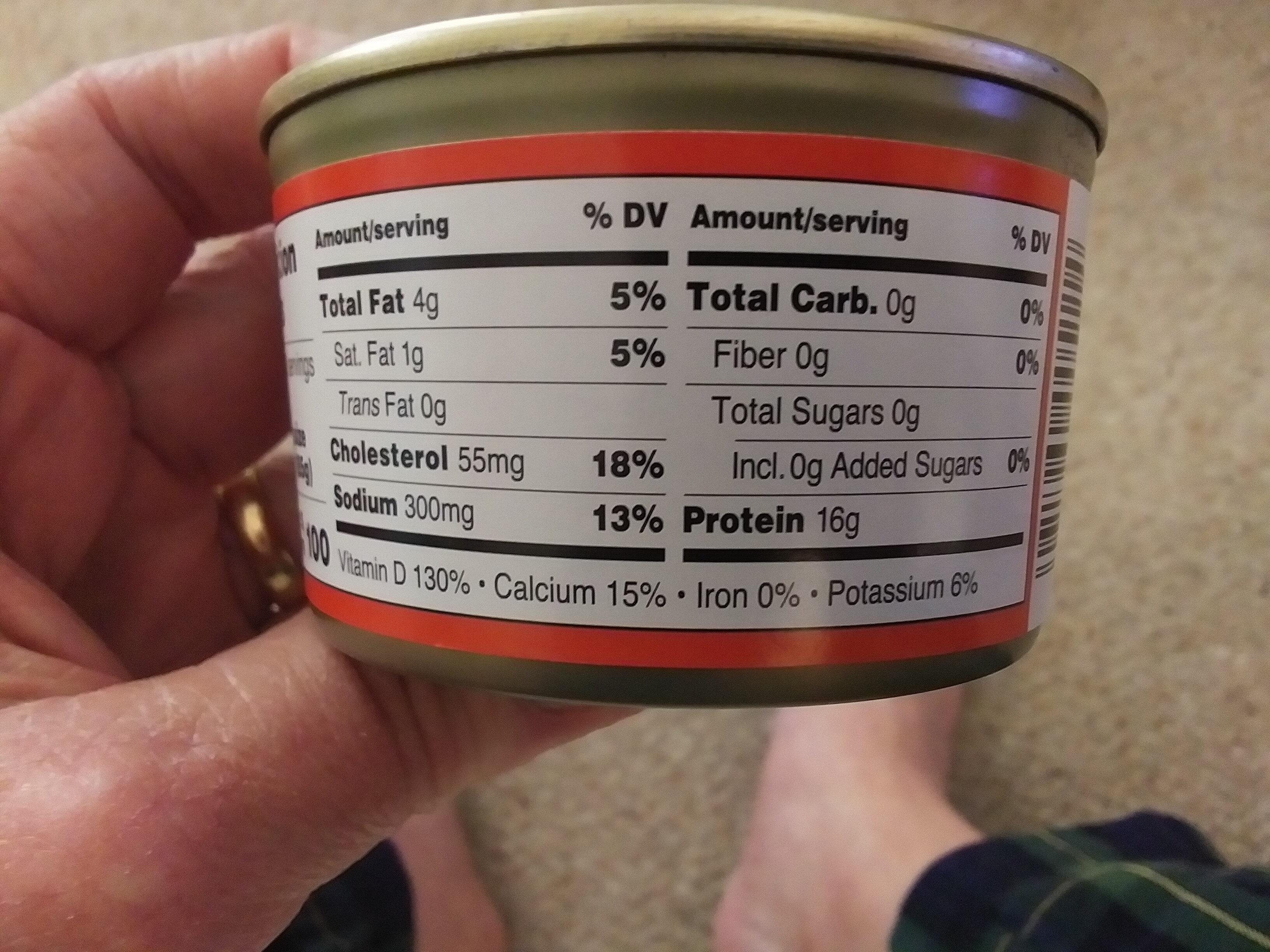 Wild Alaska Pink Salmon - Nutrition facts - en