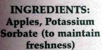 Apple Cider - Ingredients - en