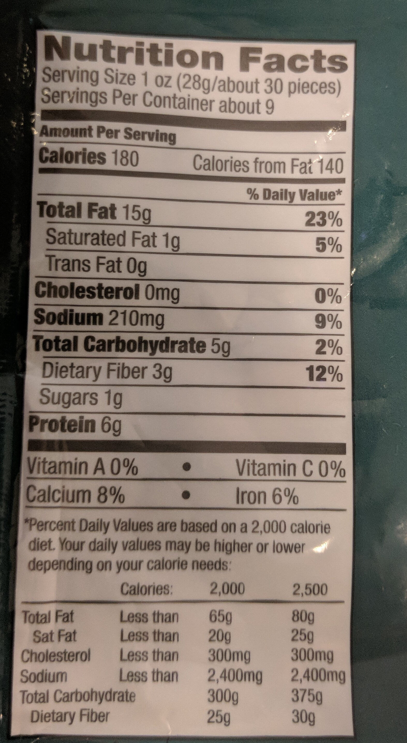 Smoked Almonds - Nutrition facts - en