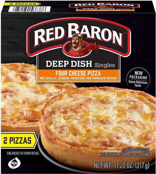 Deep dish singles four cheese pizza - Prodotto - en