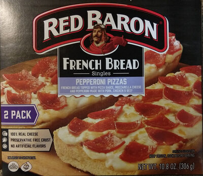 Red baron, french bread singles pepperoni pizzas - Product