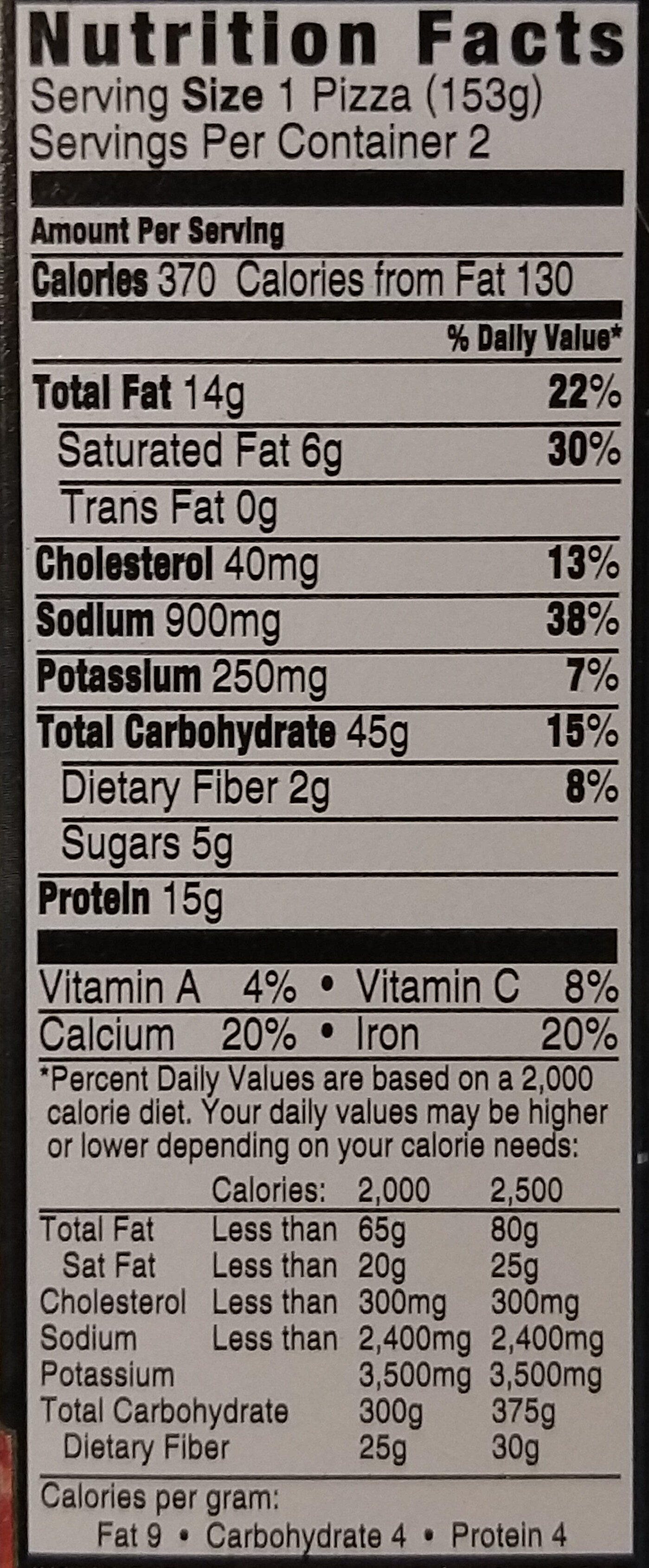 Red baron, french bread singles pepperoni pizzas - Nutrition facts - en