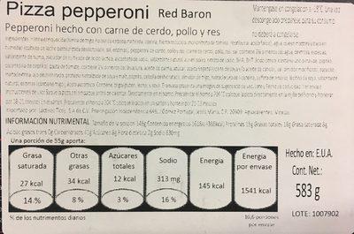 Classic Crust Pizza de Peperoni - Nutrition facts