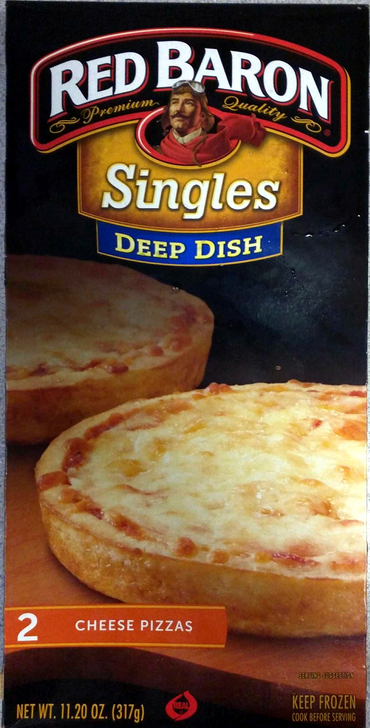 Red baron, singles deep dish pizzas, cheese - Product - en