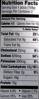 Red baron, singles deep dish pizzas, cheese - Nutrition facts - en