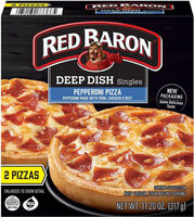 Deep dish singles pepperoni frozen pizza - Prodotto - en