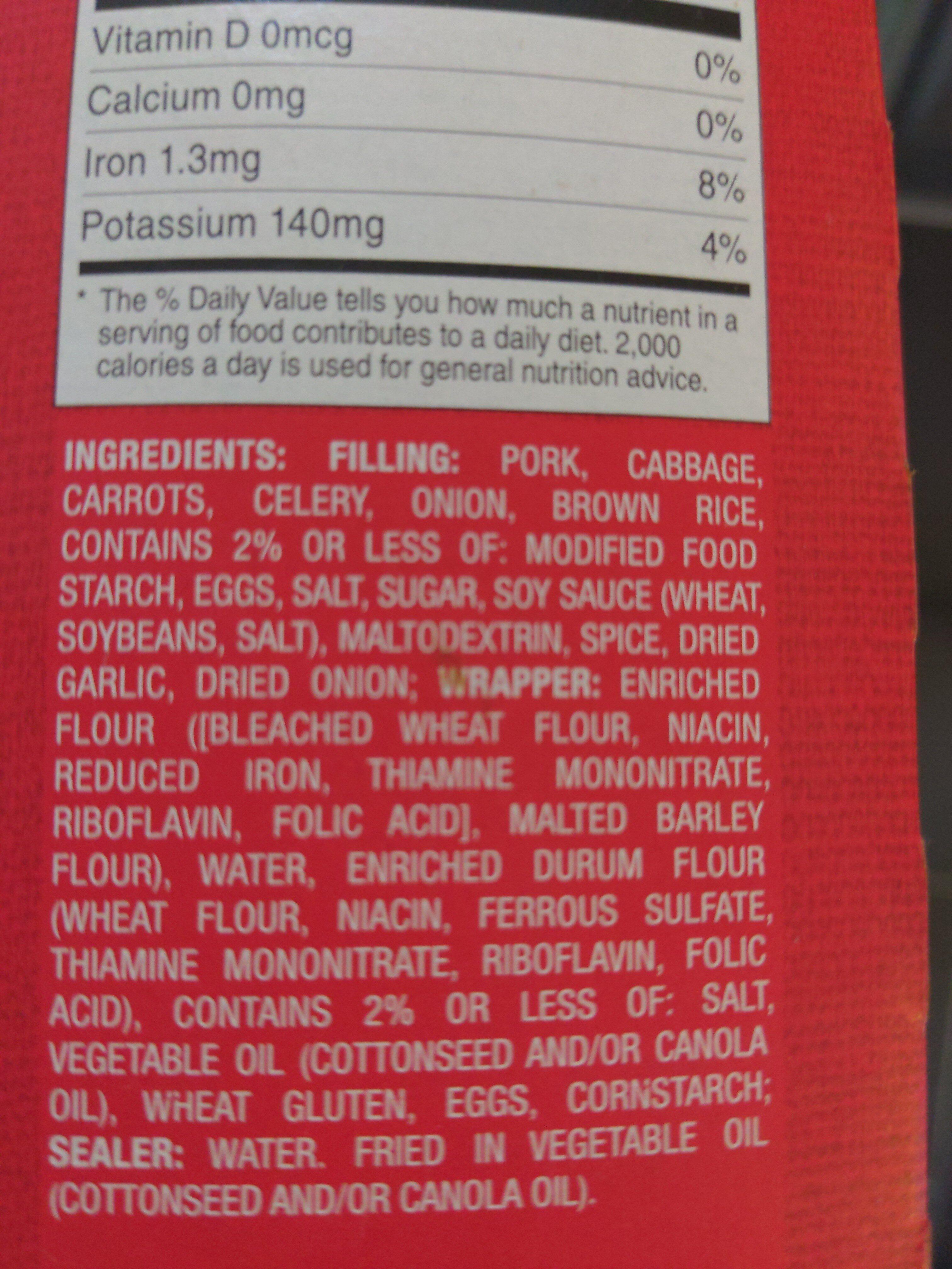 eggroll - Ingredients - en
